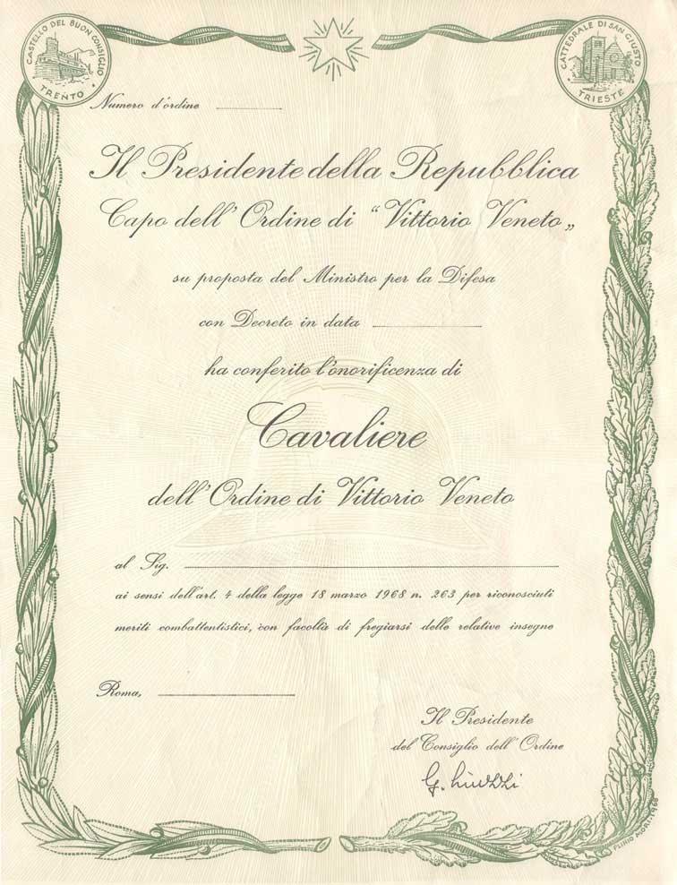 Cavalieri di Vittorio Veneto