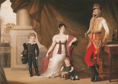 Josef Lanzedelli, 1810 . Dipinto raffigurante il conte Adam Albert von Neipperg e la prima moglie Teresa Pola con i figli Alfred e Ferdinand